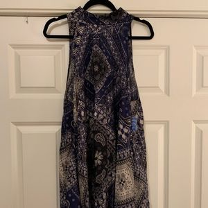 Free People Beaux Mock Neck Slip, Size M